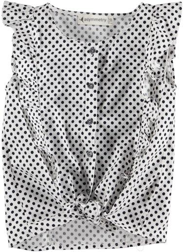 Etek Ucu Bağlamalı Gömlek-Asymmetry